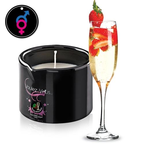 Massage candle Berry Sparkling wine - ALLUME-MOI by Voulez-Vous...