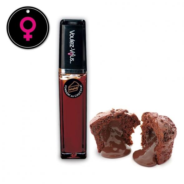 Gloss érotique Effet Chaud-Froid Fondant Chocolat