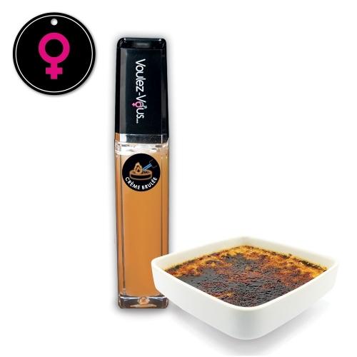Gloss érotique Effet Chaud-Froid Crème Brulée