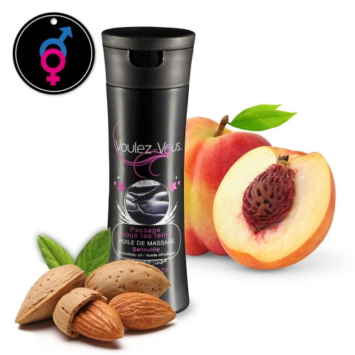 Massage oil PASSAGE SOUS TES REINS Sensuelle - Almonds - Peach