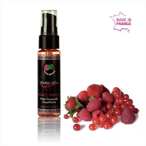 Huile de massage chauffante et gourmande Fruits Rouges