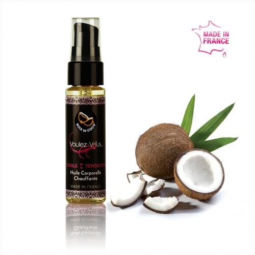 Huile de massage chauffante et gourmande Noix de Coco
