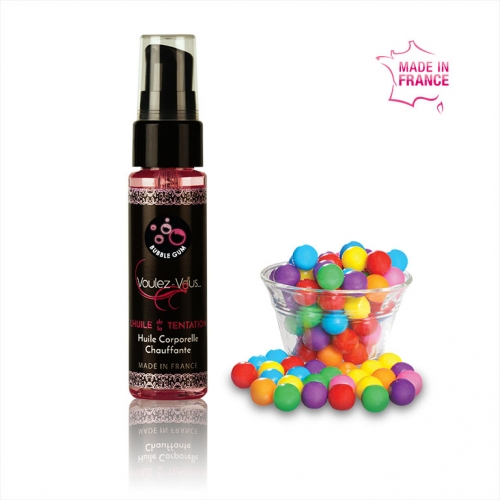 Warming body oil BubbleGum - MIDNIGHT OIL (30ml) – by Voulez-Vous…