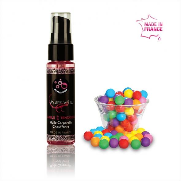 Huile de massage chauffante et gourmande BubbleGum